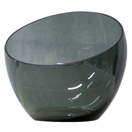 Dome Deco Tea Light Holder Grey Glass | Large