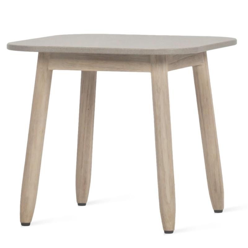 Vincent Sheppard David Outdoor Side Table Teak Ceramic