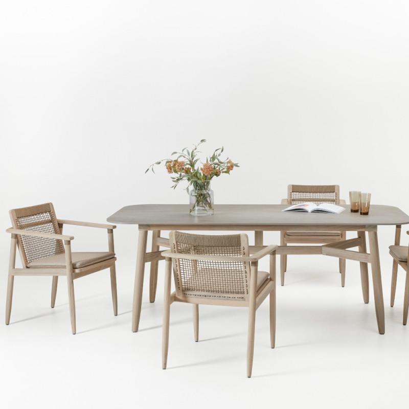 Vincent Sheppard David Dining Table Teak Ceramic 210 CM