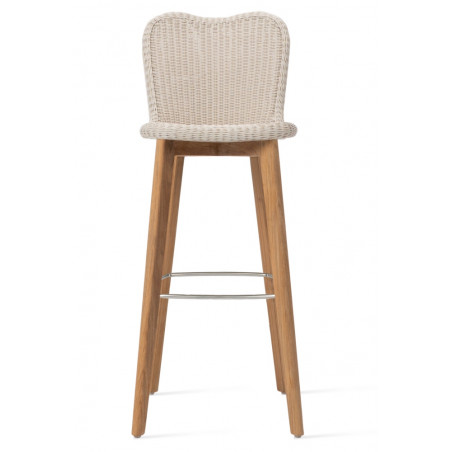 Vincent Sheppard Outdoor Lena Bar Stool Teak Base