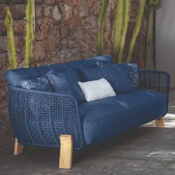 Talenti Argo Garden Love Seat Natural Ocean Blue