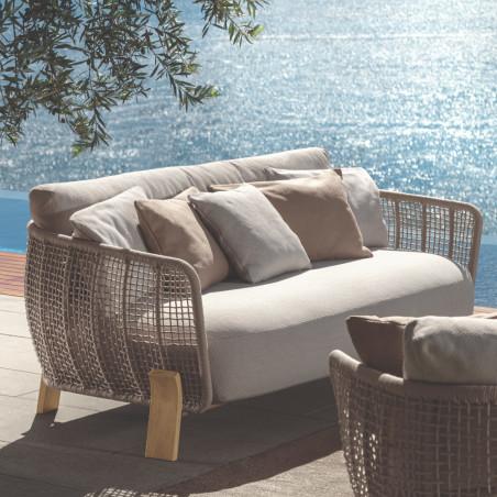 Talenti Argo Garden Love Seat Natural White Beige
