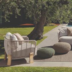 Talenti Argo Garden Lounge Chair Natural White Beige