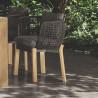 Talenti Argo Garden Dining Chair Natural Wood Dark Grey