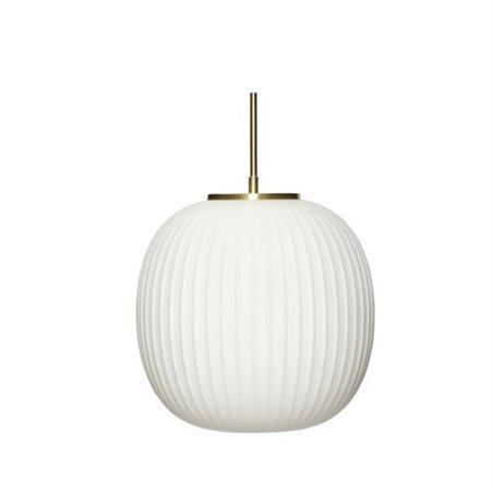 Hubsch Lamp, glass, white/brass