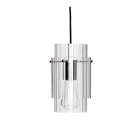 Hubsch Lamp, glass/metal, clear/nickel