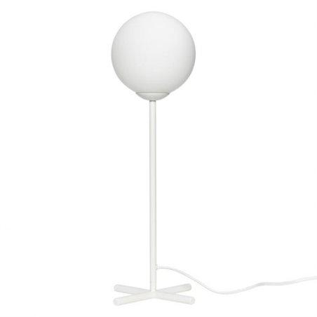 Hubsch Table lamp w/bulb, metal, white/opal