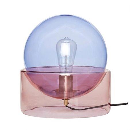 Hubsch Table lamp, glass, blue/rose