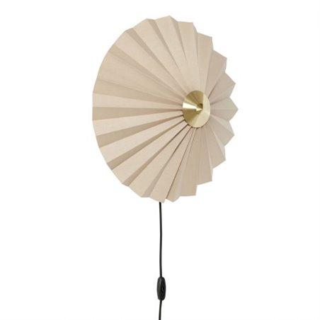 Hubsch Wall lamp, textile/metal, sand/brass
