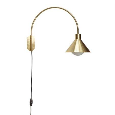 Hubsch Wall lamp, brass