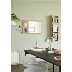 Hubsch Dining Chair Light Grey Painted Wood and Metal