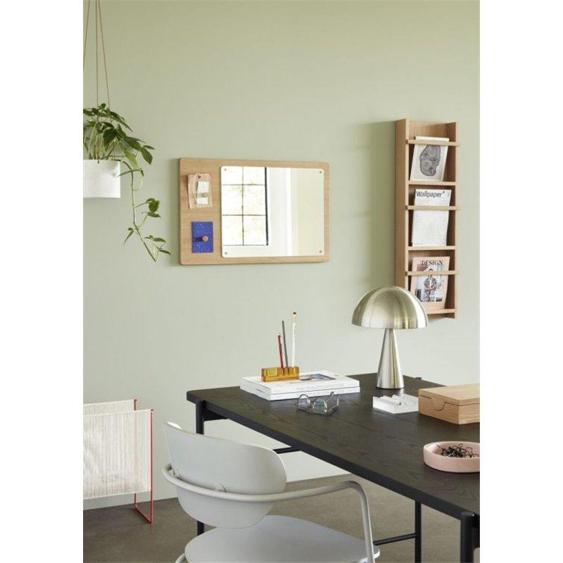 Chair, wood/metal, FSC, grey