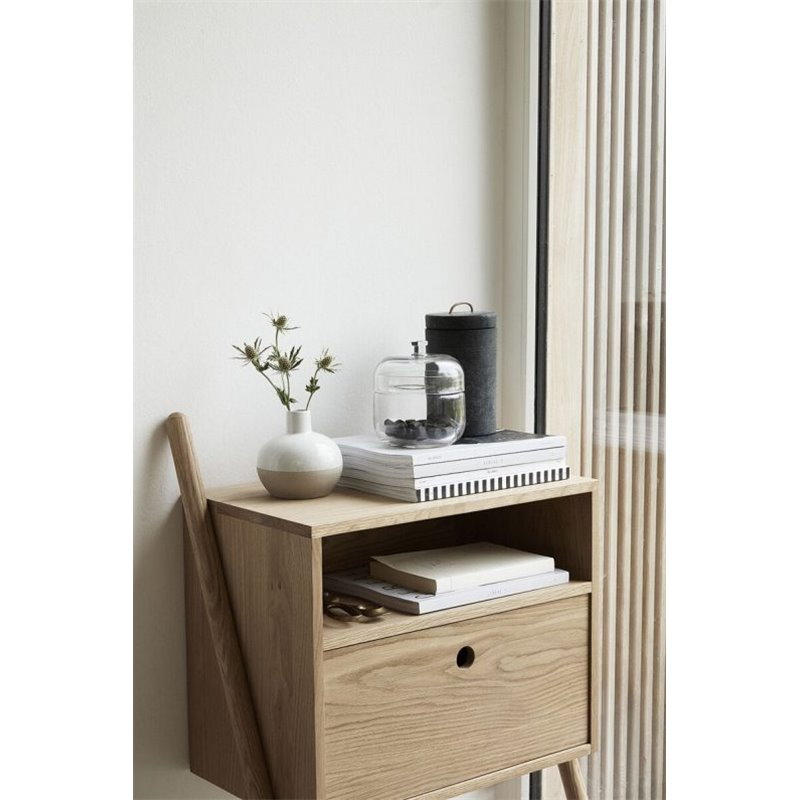 Hubsch Bedside Table FSC Natural Oak