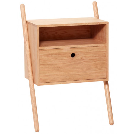 Hubsch Bedside Table FSC Natural Oak
