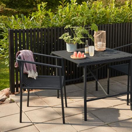 Hubsch Garden Dining Chair Metal Black