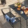 Hubsch Garden Dining Bench Metal Black