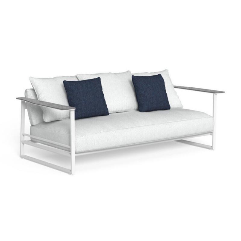 Talenti Riviera Garden Sofa White Silver