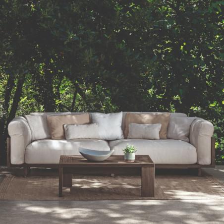 copy of Talenti Argo Garden Lounge Chair Natural Wood  Dark Grey