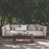 Talenti Argo 3 Seater Garden Sofa Wooden Frame