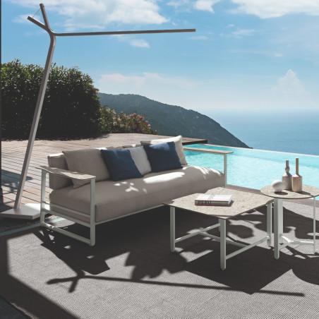 Talenti Riviera 2 Seater Sofa White Silver