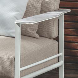 Talenti Riviera Garden Sofa White Beige