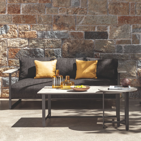 Talenti Riviera Garden Sofa Graphite Black