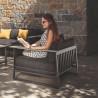 Talenti Riviera Garden Armchair Graphite Black