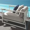 Talenti Riviera Garden Armchair White Silver