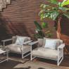 Talenti Riviera Garden Armchair White Beige