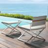 Talenti Riviera Director Lounge Chair White Silver