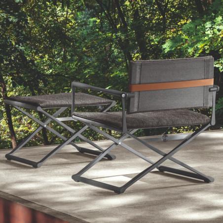 Talenti Riviera Director Lounge Chair Graphite Black