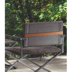 Talenti Riviera Director Lounge Chair Graphite Black