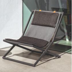 Talenti Riviera Deck Chair Graphite Dark Grey
