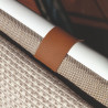 Talenti Riviera Deck Chair White Beige