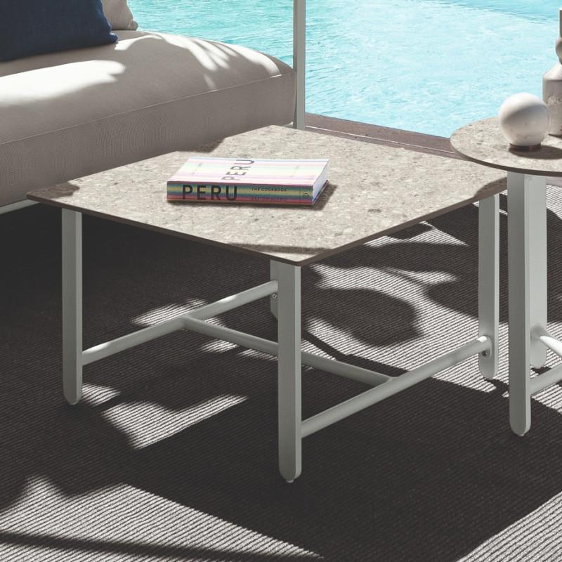 Talenti Riviera 70 x 70 Coffee Table White Grey