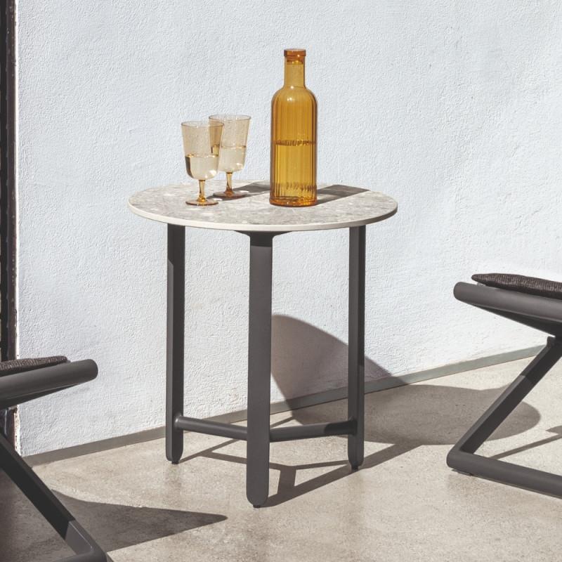 Talenti Riviera Round Coffee Table Graphite Grey
