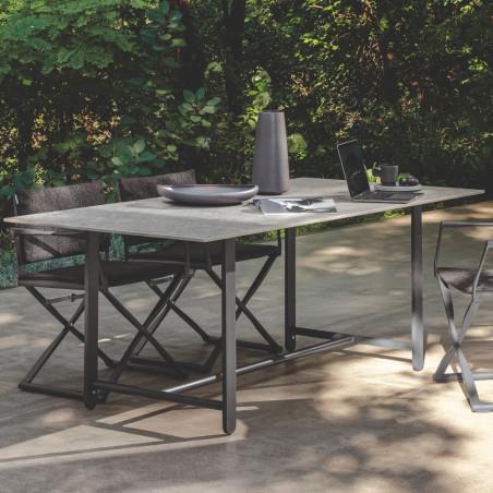 Talenti Riviera 210 x 100 Dining Table Graphite Grey