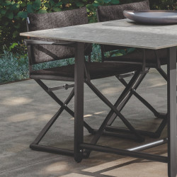 Talenti Riviera Garden Dining Table Graphite Porcelain 210 CM
