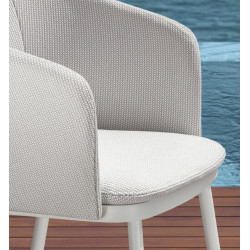 Talenti Slam Dining Armchair White Silver