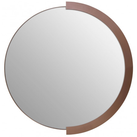 Crescent Wall Mirror Brushed Rose Gold