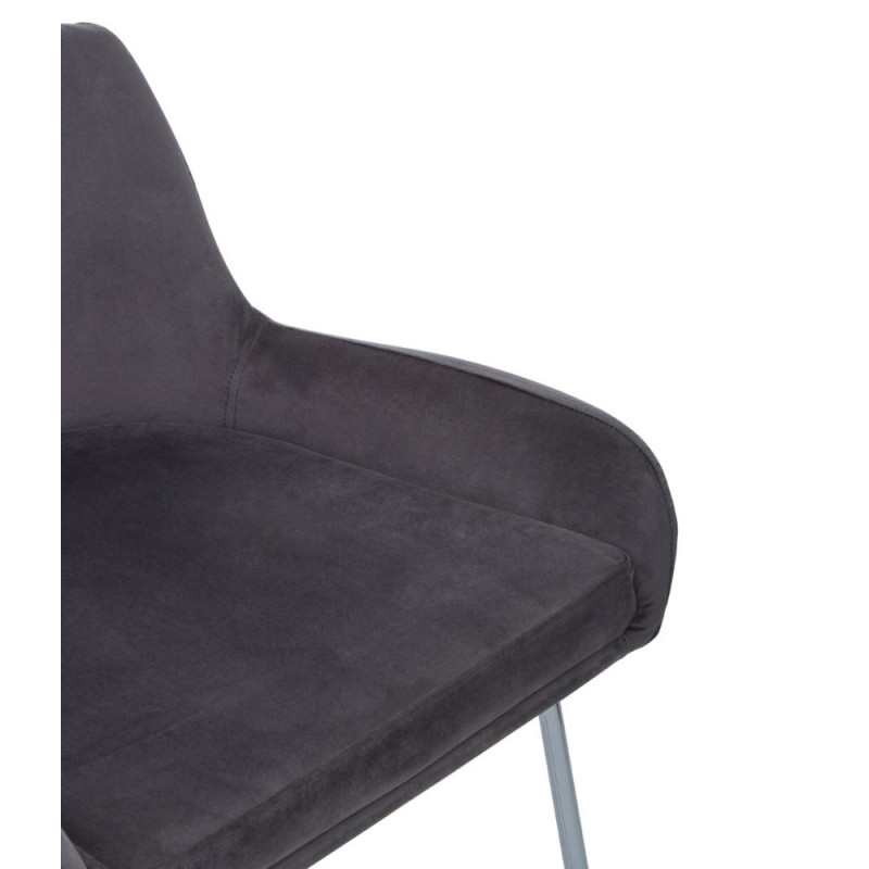Mink Velvet Bar Chair with Low Arms
