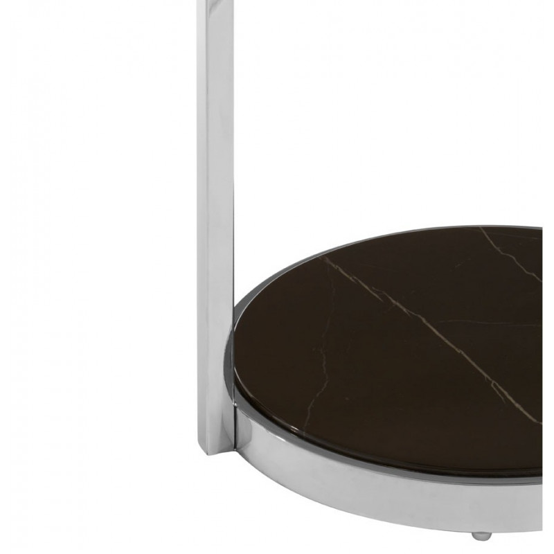 Marble 2 Tier Side Table Chrome