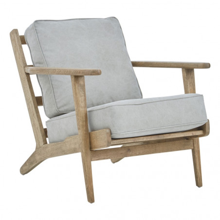 Mid Century Style American Oak Armchair Natural
