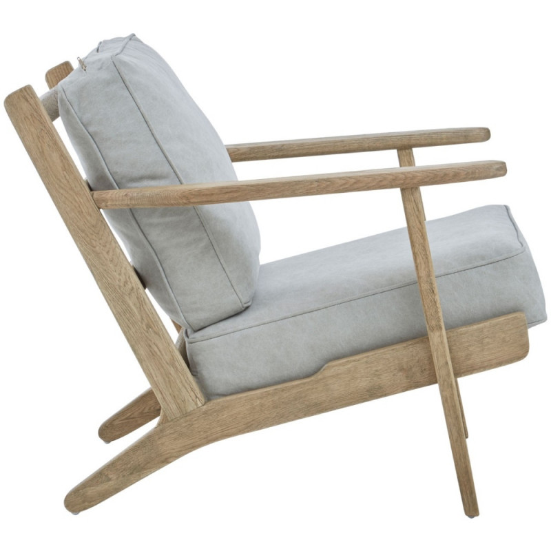 Mid Century Style American Oak Armchair Natural