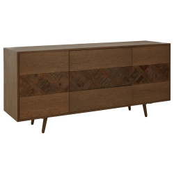 Parquet Oak and Elm Wood Sideboard