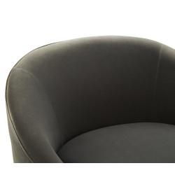 Milan Armchair Grey Velvet