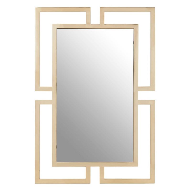 Brushed Gold Rectangular Wall Mirror