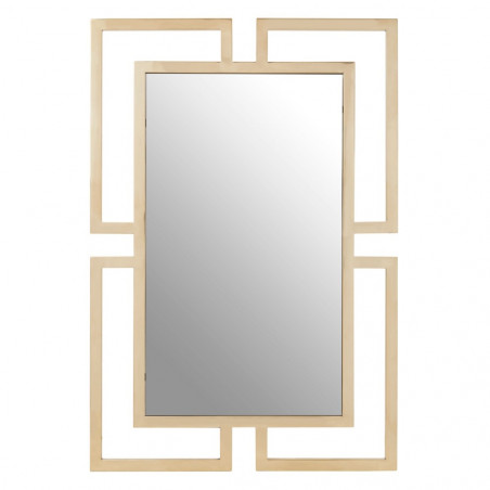 Brushed Gold Rectangular Wall Mirror
