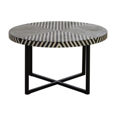 Monochrome Three Legged Side Table