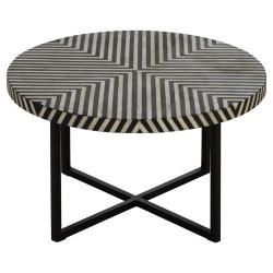 Monochrome Cross Base Coffee Table